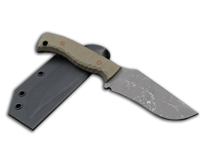Oberon: Recurved Hunting knife with fixed blade and full tang